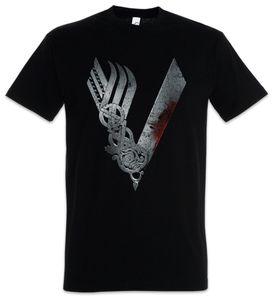 Urban Backwoods Vikings Logo Celtic T-Shirt, Größe:4XL