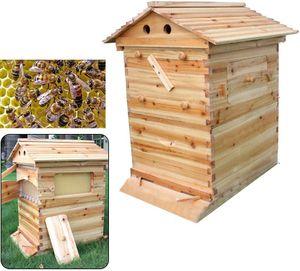 Bienenstock Automatische Honig Bienen Imkerei Hive Bienenstock Bienenhaus Beute Haus Bienenstock-Holzkisten-Kits Honigrahmen Bienenstockhaus Holzhaus Brut Für Imker