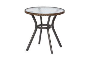 Merxx Tisch RAVENNA Ø 70 x H 74 cm, rund, braun (28215-210)
