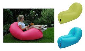 Air Lounger Peacock Sitzsack Wellnessliege Luftsessel Relaxliege aufblasbar