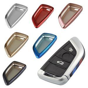 Gehäuse Hülle Tasche Schlüssel für BMW F48 G01 G02 F15 F16 F45 F46 X1 X3 X4 X5, Farbe Schlüssel-Cover:Rot