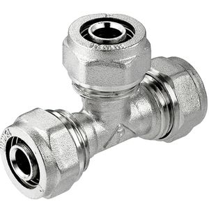PEX-AL-PEX Abschlag Rohr Verbinder 25x20x25mm Messing Kompression Armaturen
