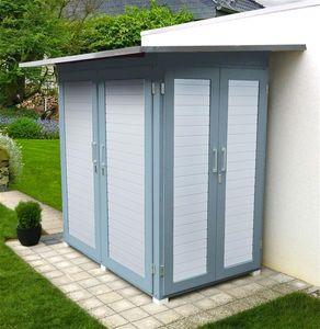 Gerätehaus / Geräteschrank Weka GartenQ Kompakt grau 210x150cm