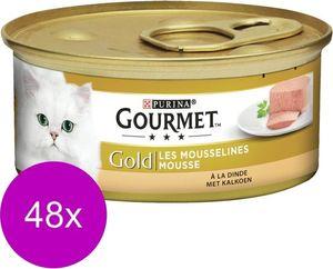 Gourmet Katzenfutter Gold Mousse Truthahn  48 x 85g