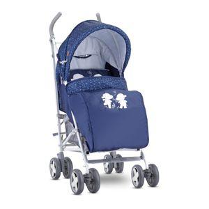 Lorelli Kinderwagen IDA faltbar Fußabdeckung schwenkbare Vorderräder Ablagekorb , Farbe:blau
