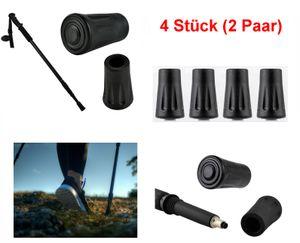GKA 2 Paar (4 Stück) Walking Asphaltpads Gummipuffer Ersatzfüße für Trekking Stöcke Grip Pads Nordic Walking