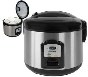 Mesko Reiskocher 1,5 Liter | Warmhaltefunktion | Edelstahlgehäuse  | 1000 Watt
