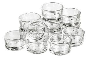 12 Teelichtgläser, ca. 4,5x2,4cm, VBS Großhandelspackung