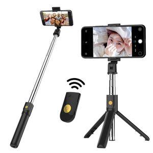 Lammcou Selfie Stick Stativ, 3 in 1 Mini Selfiestick mit Handy Fernauslöser Erweiterbarer Selfie-Stange und Tragbar Monopod Handyhalter für iPhone/Samsung/Huawei IOS und Android Phone