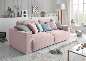 "Couch ""Lazy"" Schlafcouch Bettsofa Schlafsofa Sofabett Funktionssofa ausziehbar flamingo rosé 250 cm"