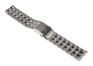 Ersatzband Edelstahl silberfarben 22mm für Timex T22202