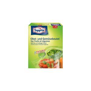 Toppits Obst- und Gemüse-Beutel 7x3Liter Hält biszu 3x länger frisch