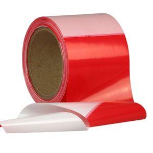 100 Meter Absperrband Flatterband Warnband rot-weiß 80 mm reißfest