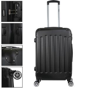 AREBOS Eco Reisekoffer Hartschalenkoffer Trolley Schwarz Größe L - direkt vom Hersteller