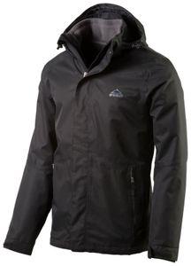McKinley Herren Wander Freizeit Doppeljacke Terang II 3 in 1 Jacke schwarz, Größe:XXXL