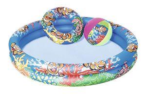 """Bestway Planschbecken Set """"Clownfish"""", 122x20 cm - rund - 137 l; 51124"""