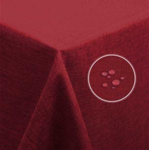 Tischdecke bordeaux 130x220 cm beschichtet Leinenoptik wasserabweisend Lotuseffekt