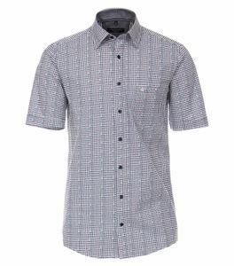 Casa Moda - Casual Fit  - Herren Freizeit 1/2-Arm-Hemd mit Kent-Kragen (903461400), Größe:M, Farbe:Blau (100)