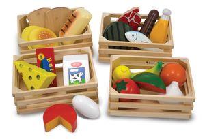 Nahrungsmittelgruppen aus Holz