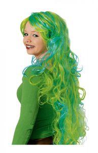 K11278465 türkis-grün Damen Langhaar Nixen Perücke Meerjungfrau