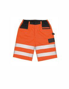 Safety Cargo Shorts - Kurze Arbeitshose nach EN20471:2013 K - Farbe: Fluorescent Orange - Größe: L