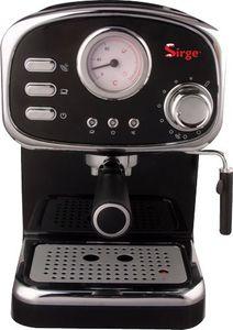 Sirge CREMILDA Traditionelle Espressomaschine, Siebträgermaschine, Infodisplay Thermometer, Milchaufschäumer, ITALY Pump 15 bar - 1000W - 3 Filter [Kaffeepads + Gemahlener Kaffee(1 Tasse und 2 Tassen)]