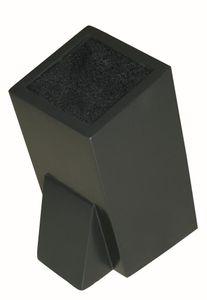culinario Messerblock schwarz, unbestückt, mit Borsten-Universaleinsatz