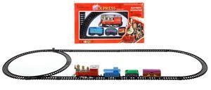Mini Express 11 tlg. - Deko Zug mit Lokomotive, Waggons und Schienen