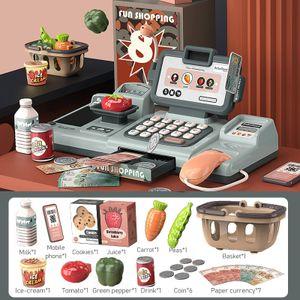 Shopping Checkout Spielzeugset, Simulation Supermarkt Registrierkasse Spielzeug, Kinderspielhaus