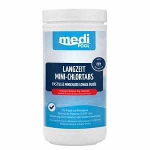 mediPOOL Langzeit-Minichlor Tabs 20 g, Chlortabletten, Chlorlangzeittabletten, Poolreinigung Inhalt:1 kg