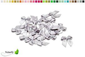 Satinschleifen 25mm, 20 Stück, Farbe:silber 012