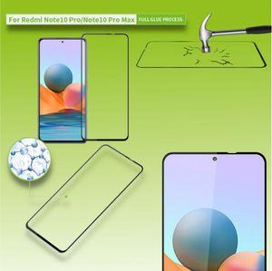 Für Xiaomi Redmi Note 10 Pro 3D Premium 0,3 mm H9 Hart Glas Schwarz Folie Schutz Hülle Neu