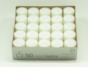 Teelichte Nightlight Parafin überdurchschnittliche Brenndauer 50 Stück