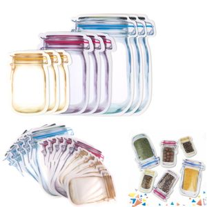 30pcs Mason Jar Zip Beutel, Aufbewahrungsbeutel Wiederverwendbare, Lebensmittelbeutel Einmachglas, Mason Bag Versiegelt zum Backen von Keksen Snacks Süßigkeiten