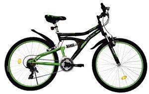 24 Zoll Kinder Jugend Jungen Mädchen Fahrrad Kinderfahrrad MTB Mountainbike Jungenfahrrad Bike Rad 21 Gang Beleuchtung STVO VOLLFEDERUNG Fully Schwarz Grün 4300