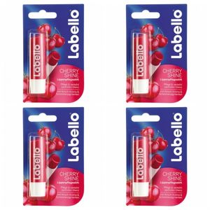 4 x Labello Lippenpflege Cherry Shine 4,8 g
