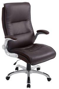 CLP Bürostuhl BIG Villach mit Wippmechanismus und Leichtlaufrollen, Farbe:braun