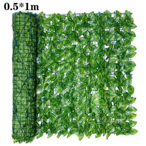 0.5x1M Künstlich Kunst Efeu Blatt Zaun Hecke Wanddekoration Weihnachtsdekoration Pflanzen Sichtschutz