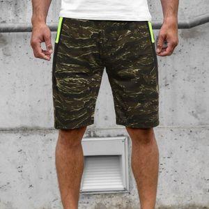 Herren Sommer Casual Fitness Bodybuilding Camouflage bedruckte Sporthose Hosen Größe:M,Farbe:Grün