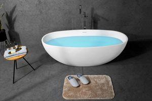 Mineralguss-Badewanne TOGA-165 165 x 75 x 59 cm, weiß