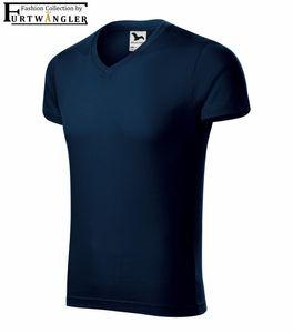 T-Shirt Marineblau 2XL Herrenshirt V-Ausschnitt Furtwängler Slim Fit V-Neck 180 g/m²
