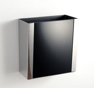 Ablage, Wandablagebehälter für Gästetücher (schwarz)