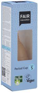 FAIR SQUARED Menstruationsbecher Size S - weiche Menstruationstasse aus Naturkautschuk aus fairem Handel - vegan und Zero Waste