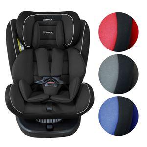 XOMAX 916 Auto Kindersitz mit 360° Drehfunktion und ISOFIX für Kinder von 0 - 36 kg (Klasse 0, I, II, III) Farbe Schwarz