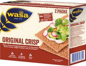 Wasa Crisp Original extra dünnes Roggenknöckebrot mit Sauerteig 200g