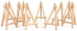10 x Mini Staffeleien, 16×9cm,kleine Holz Tafel Display, Halterung Staffelei Foto Memo Halter Platzkartenhalter Namenschilder und vieles mehr