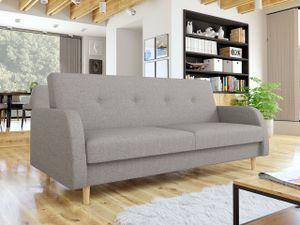 Mirjan24 Schlafsofa Ingrid, Polstersofa mit Schlaffunktion und Bettkasten, Stilvoll Sofa, Couch (Farbe: Tatum 279)