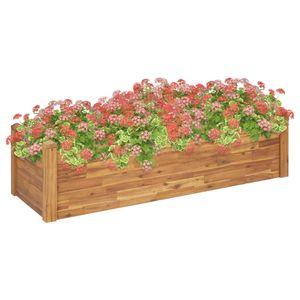 Garten-Hochbeet Hochbeet für Balkon und Garten 160 x 60 x 44 cm Massivholz Akazie