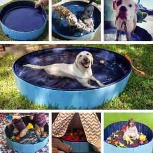 PVC Hundepool Faltbar Pet Bad Pool Faltbar Hund Pool Pet Baden Badewanne für Hund Katze 80*20cm