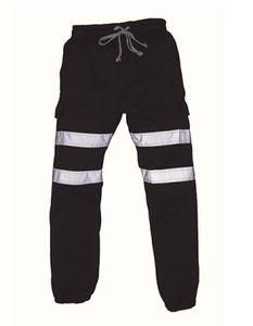 Hi Vis Jogging Bottoms - Farbe: Black - Größe: XXL